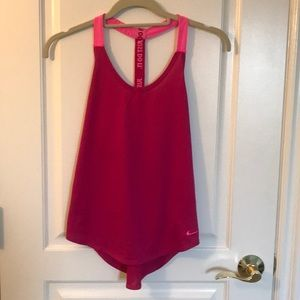 """Nike Pink Dri-Fit """"Just Do It"""" Workout Tank Top"""
